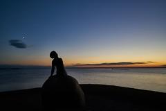 Still waiting for her sailor (Budoka Photography) Tags: statue bluehour bluesky longexposure water waterscape serene sea seascape seaside coast coastline sky theskyabove silhouette peaceful cloud sunset evening dusk sonyvariotessartfe1635mmf4zaoss sonyalphailce7rm2 manual 7dwf