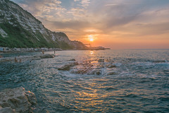 Summer Reflections, Ancona (PietroPosacki) Tags: mare sea seascape rocks sunset sole tramonto ancona italy italia marche summer reflections panorama landscape paesaggio
