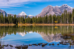 Morning Reflection (jd_hiker) Tags: landscape alberta mountains subject canada reflections sprayvalleyprovincialpark places kananaskis