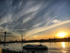 Dsseldorf's sunset (Gerodr) Tags: rhine nordrhinewestfalen landscape atardecer sunset photo picoftheday altstadt deutschland germany dsseldorf instagramapp square squareformat iphoneography