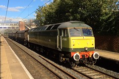 "47830 ""BEECHING'S LEGACY"" on 4M30 Hunslet Yard - Crewe Basford Hall S.S.M Clagging out Cheadle Hulme 02/10/2016 (37686) Tags: 47830 beechingslegacy 4m30 hunslet yard crewe basford hall ssm clagging out cheadle hulme 02102016"
