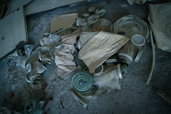 No survivors (MrMysteryPenguin) Tags: items abandoned urbex find bottle gloom chernobyl decay explore history nuclear ukraine