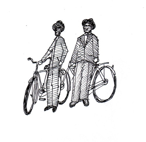 bikers, robert trudeau, shreveport, 2011 / mural study by trudeau