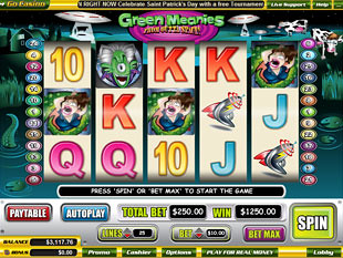 Green Meanies slot game online review