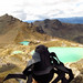 Spidey checking out the bright coloured lakes. Tongariro Crossing, New Zealand 08MAR11