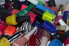 my Nail colors || (Fatma AL-Bahar) Tags: pink blue red orange green colors purple nail fingers kuwait fatma q8   albahar