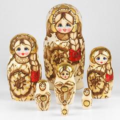 Art of Woodburning Russian Nesting Doll (The Russian Store) Tags: matrioshka matryoshka russiannestingdolls  stackingdoll  russianstore  russiangifts  russiancollectibledolls shoprussian