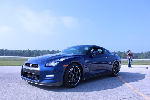 2012 Nissan GTR at the Disney Speedway