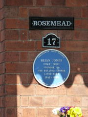 Photo of Brian Jones blue plaque