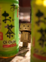 03.19.2011 (greenplasticamy) Tags: food green japan project lumix japanese amazon day tea beverage mini daily panasonic every cardboard micro photoaday 20mm 365 everyday greentea 43 itoen danbo amazoncojp gf1 mft project365 365days oiocha revoltech danboard micro43 microfourthirds minidanboard minidanbo dmcgf1
