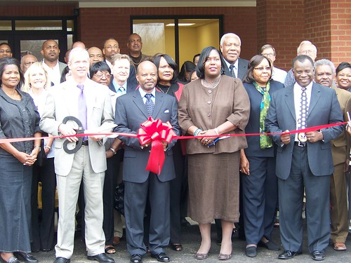 Over 100 people gathered for the ribbon-cutting ceremony of the Greater Refuge Community Center, which was financed by a USDA loan. (State Director Trina N. George, front row, third from right)