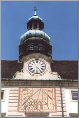 Sundial (Walter A. Aue) Tags: vienna wien austria sterreich sundial snapshots copernicus hofburg sonnenuhr kopernikus schnappschsse walteraaue scanned4x6analogcolorprintsfrom2003 spaziergangdurchwien walkthroughvienna