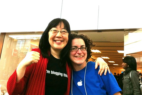 With Erica from the Apple store