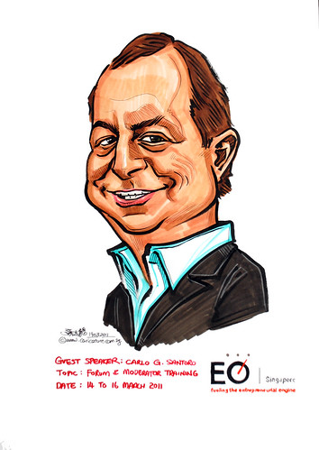 Mr Carlo G Santoro caricature for EO Singapore