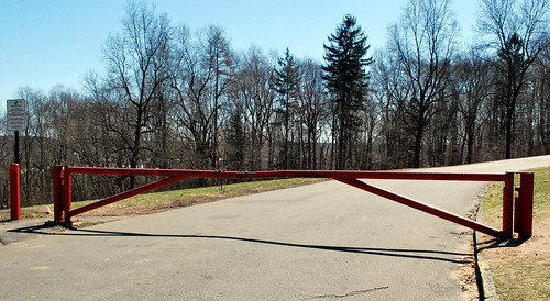 Closed East Rock Park Summit Road Gate