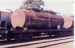 VTQF 102 B Tottenham 2/1997 (booksvic) Tags: tank railway vr wagons vline