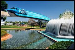 Monorail Monday - Lightspeed Through Epcot [Explore] (Silver1SWA (Ryan Pastorino)) Tags: world canon epcot sigma disney 7d monorail tron walt sigma1020