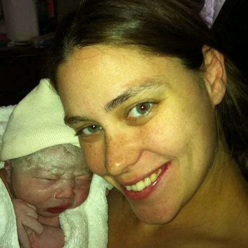 Melody and baby Noah