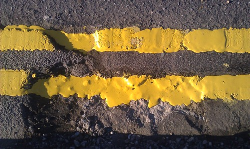 96/365 Double Yellow Puddled Lines
