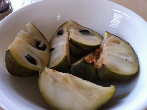 Cherimoya sliced