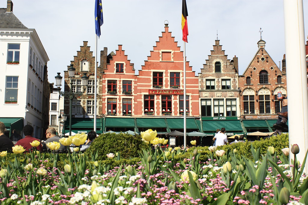 Flowers and Flemish houses