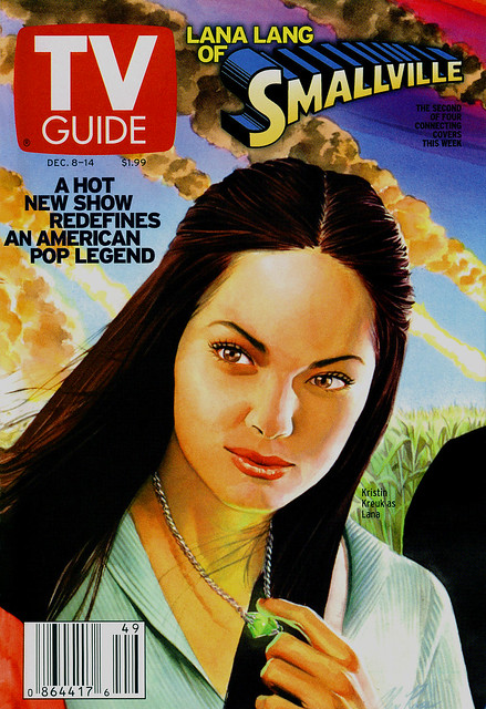 TV Guide Dec 2001 Smallvile - Alex Ross Kristin Kreuk painting