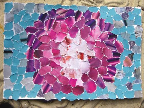 handmade postcard - flower