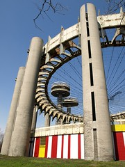 World's Fair New York State Pavilion, Flushing Meadows Corona Park, Queens, New York City (jag9889) Tags: world park city nyc ny newyork observation state towers meadows fair queens corona pavilion decks remnants 1964 flushing 2011 y2011 jag9889