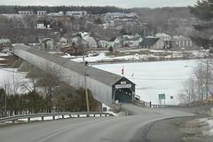hartland 009 (Susan Hancox Reid) Tags: world canada interesting newbrunswick covered coveredbridge longest brige hartland nationalhistoricsite hartlandcoveredbridge canon60d