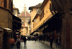 florence christmas day (Csbr) Tags: christmas city travel bridge winter light italy holiday history church rain festival architecture florence europe december cathedral basilica gothic medieval christian dome duomo toscana renaissance pontevecchio worldheritage 2010 brunelleschi santamariadelfiore gettyscreening