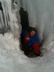 Snow cave exploration #1