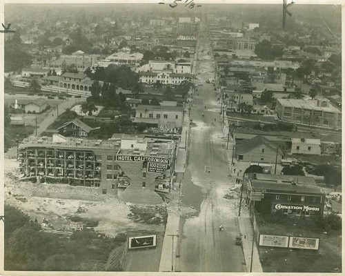 Santa Barbara Aerial View Earthquake Damage 1925