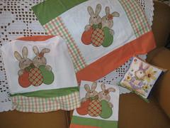 Presente que ganhei da Angela Cherem!!!! (flavia_sm1963) Tags: quilt patchwork coelho pascoa trilho aplicao