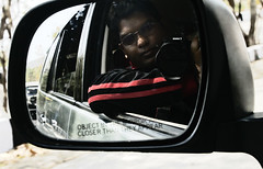 Subject in mirror (MyXP) Tags: camera travel india selfportrait car self canon mirror moving photographer jeep toyota vehicle rearview sideview tamilnadu innova tirupati selfshot tirupathi 60d