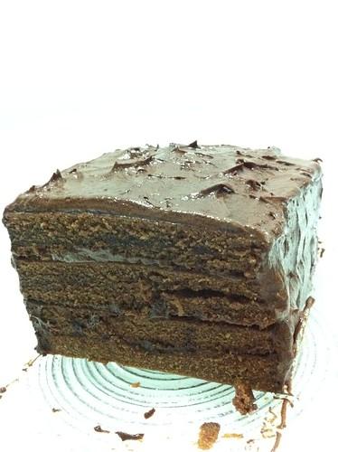 Chocolate layer buttermilk cake