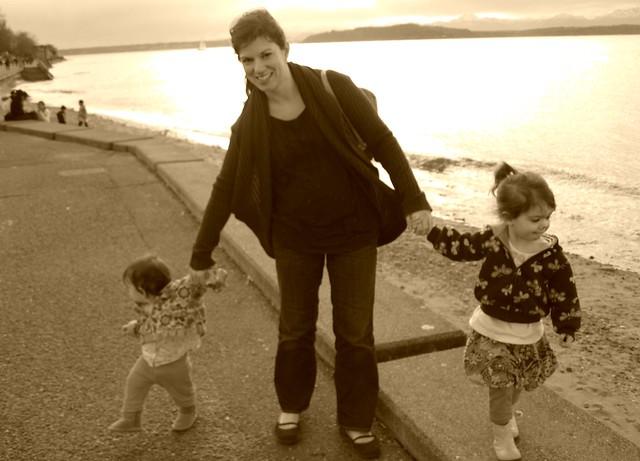 Sepia Beachcombers