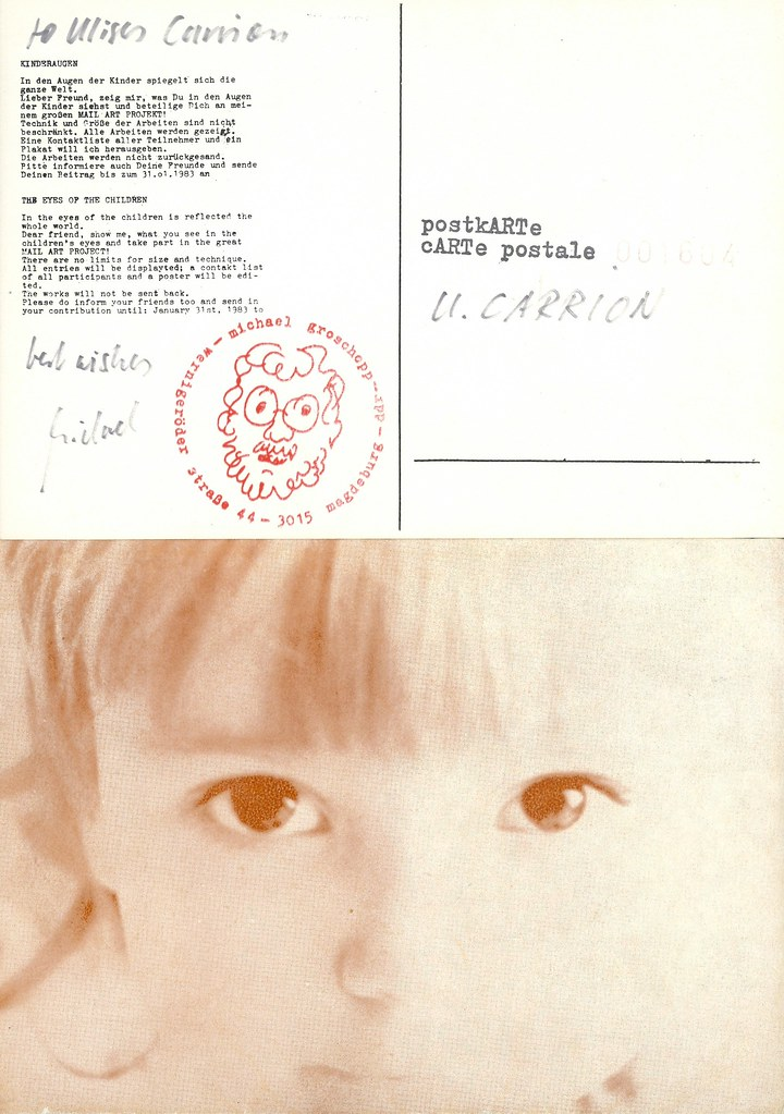 "GROSCHOPP, Michael.  Magdeburg 1983.  ""The Eyes of the Children"" : 9 post cards in envelope."