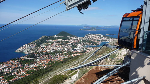 Cable car to Srd Mountain and Imperial Fortress, Dubrovnik, Croatia