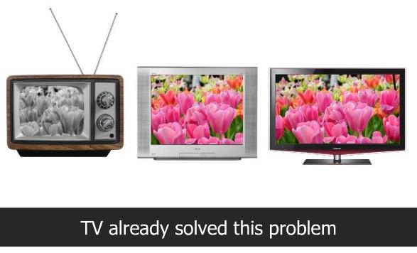 Television is already doing progressive enhancement