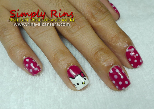 Nail Art Hello Kitty Simply Rins