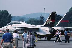 Cat... (tbower) Tags: film airplane 1982 kodak pennsylvania aircraft aviation airshow tomcat kodachrome64 grumman williamsportpa f14a konicaminoltadimagescandualiv