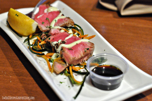 Seared Ahi Tuna at Shorewood Bar & Grill ~ Fridley, MN