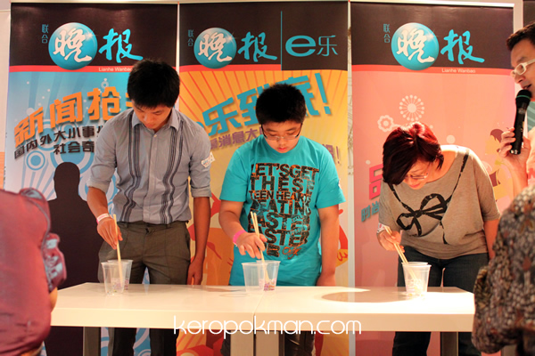Marble Picking with Chopsticks Competition