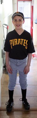 The athlete in full uniform