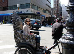 riding in style (J Blough) Tags: nyc unionsquare throne ironthrone