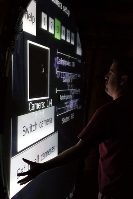 IR camera test on the 7 foot multitouch wall