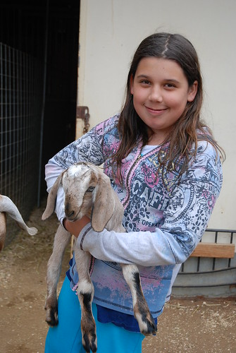 Violet & 3 day old baby goat