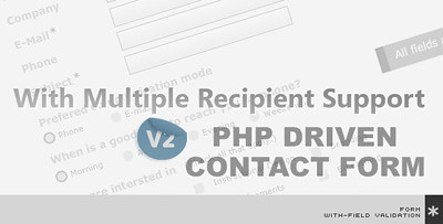 PHP Contact form with radio button & check box with multiple recipients support