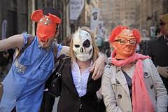 Behind Masks (l plater) Tags: sydney australia nsw cbd martinplace almostanything flickrelite lplater unlimitedphotos canon5dmkii sigma2470mmf28ifexdghsm photoshopcs5 tafedesigncentre