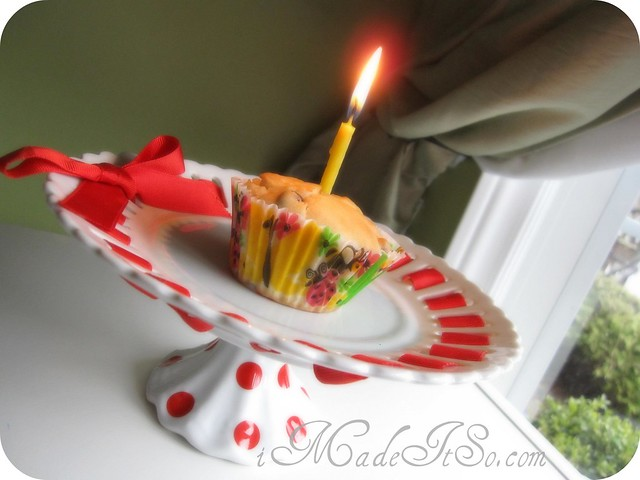 cupcake candle 1 year blogging